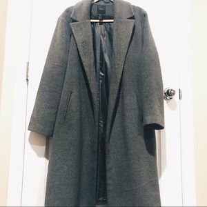 Forever21 Charcoal Grey Long Coat